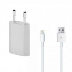 Chargeur Secteur + Cable Usb Apple Iphone
